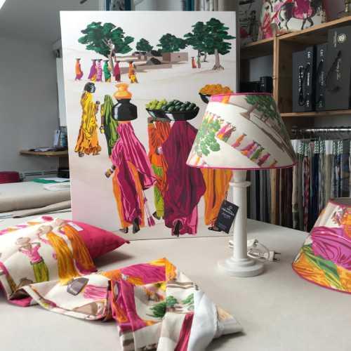 Création client : Décoration Murale d'après Tissus