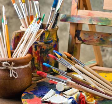 Création à la peinture