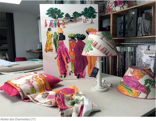 Création modulable Sari - Peinture acrilyque sur toile en lin