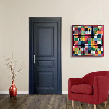 Création carrés modulables : Invasion d'Elmer