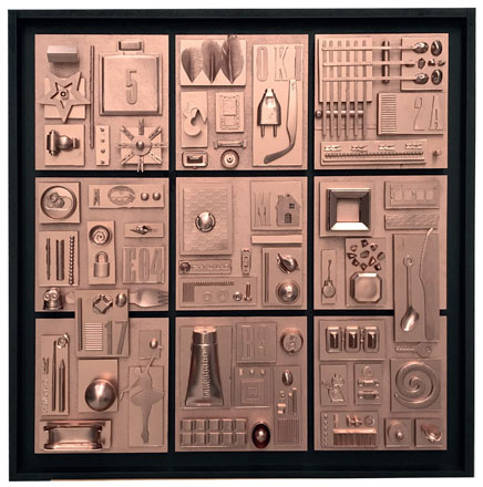 Trucs et astuces, création modulable non modèle de 9 carrés - Peinture acrylique sur support en bois
